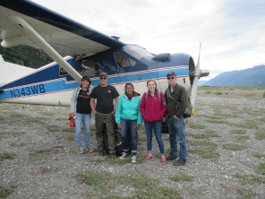 Landing near Knik Glacier with my family.